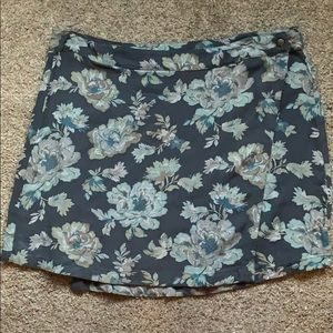Blue floral wrap skirt x AEO